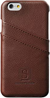Simons of London iPhone 6 Plus Luxury Leather Case with Slots for ID/Bank Cards | Ultra Slim Cover in Pouch and Gift Box