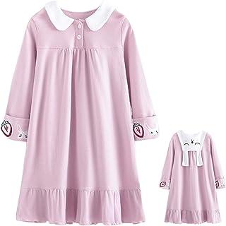Shaoyao Ragazze Pizzo Camicia da Notte Cotone Indumenti da Notte per 3-8 Anni