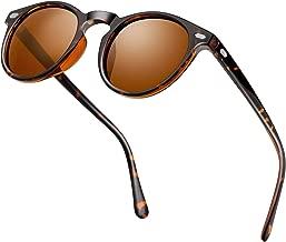 Classic Polarized Round Sunglasses Mirror Tinted Circle Lens Vintage Designer Style Sun Glasses Shades