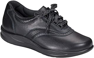 SAS Women's, Walk Easy Walking Shoe Black 8.5 N
