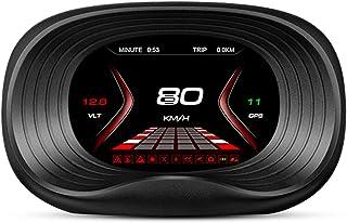 Romacci Display do HUD do carro, OBD + GPS Sistema duplo de exibição de cabeça para cima Velocímetro de alta definição Fer...