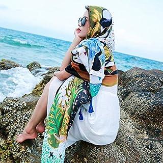 パレオ大判 パレオ ビキニ レディース 女性ビーチウェアカバーアップ、 サロンビーチビキニ水着カバーアップ、 日焼け止めパレオビーチラップ、 夏のシフォンスカーフショール、 休暇| 汽船 (Color : J)