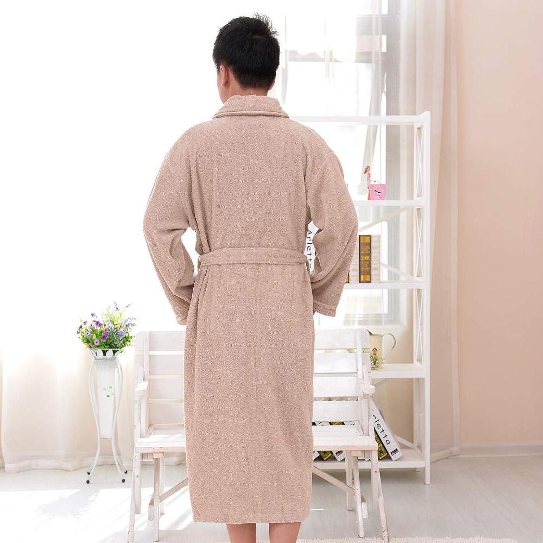 Pyjamas, Cotton Gowns, Towel Materials, Cotton Bathrobes, Bathrobes (color   Dark Brown, Size   L) (color   Dark Brown, Size   Large)