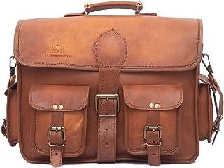 Leather Native Crossbody NEW Men s Genuine Vintage Brown Leather Messenger  Shoulder Laptop Bag Briefcase School  2ec722f0534e1