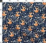marineblau, Fuchs, Babyzimmer, Füchse, Waldtier,