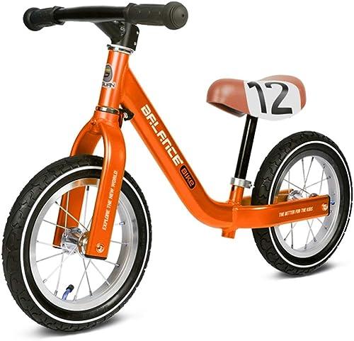 Draisiennes Vélos D'équilibre,   Voiture pour Enfants sans Voiture, SEnfant Poussette Bambin 1-3-6 Ans, Vélo - Envoyer Casque + équipeHommest De Prougeection + Pompe (Couleur   A)