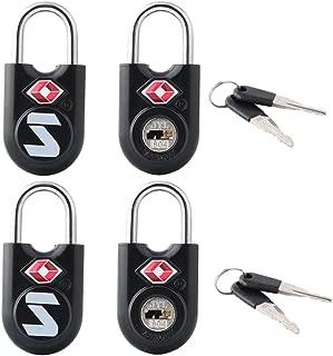 TSA Approved Travel Luggage Key Locks, Alloy body with Steel Shackle, Keyed Alike