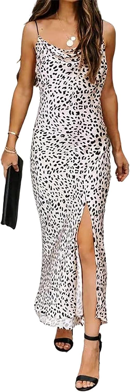 Daenery Women's Bodycon Midi Dress Sexy Spaghetti Strap Sleeveless Dress