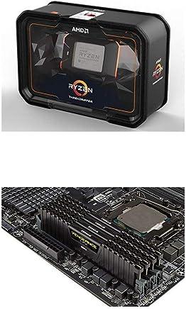 AMD Ryzen Threadripper 2990WX Processor (YD299XAZAFWOF) and Corsair CMK32GX4M4Z2933C16 Vengeance LPX 32GB (4x8GB) DDR4 2933 (PC4-23400) C16 1.35V Desktop Memory - Black