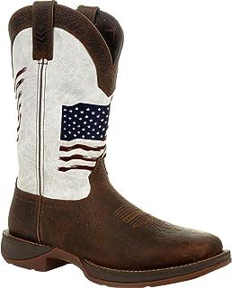حذاء برقبة غربي مطرز بعلم قديم من Durango