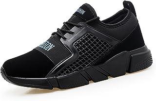 Shoes 男性 スニーカー カジュアル 軽量 耐衝撃性 メッシュ 通気性 ランニング スニーカー Comfortable (Color : Black And Blue, サイズ : 28 CM)