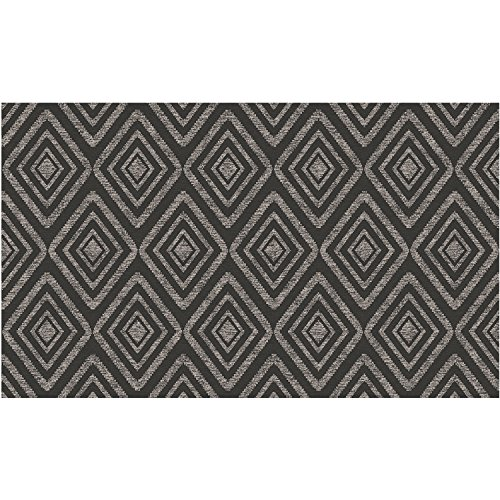 "RUGGABLE Prism Black Washable Indoor/Outdoor Stain Resistant 3'x5' (36""x60"") Accent Rug 2pc Set (Cover and Pad)"