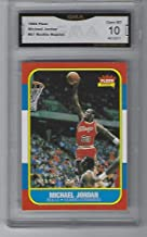 MICHAEL JORDAN 1986 FLEER ROOKIE REPRINT GRADED GEM MINT 10