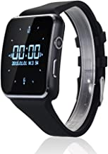 Curved Ultra HD Touch Screen X6 Smart Watch 16GB Support Micro SIM Card Camera Video Smartwatch Android-Black
