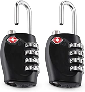 TSA Approved Luggage Combination Locks, TERSELY (2 Pack) 4 Digit Combination Padlock with Alloy Body TSA Lock for Travel Bag, Suit Case, Lockers, Gym, Bike Locks or Other