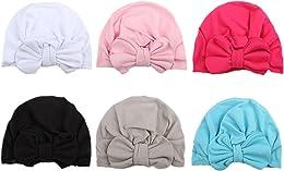 COUXILY bébé Turban Coton Bonnet Bowknot Belle Cha