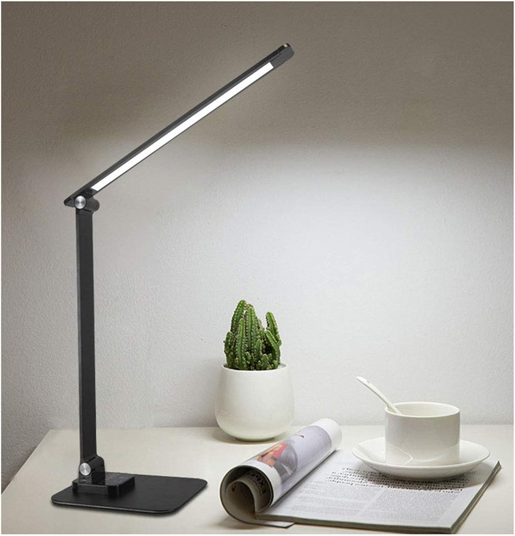 HN Lighting Lampe De Table, Led Lesetischlampe Student Led Schreibtischlampe Büro Lesung Student Eye Protection Tischlampe Led Schreibtischlampe, Lampe De Table (Farbe   Schwarz)