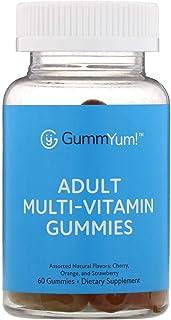 GummYum! Adult Multi-Vitamin Gummies, Assorted Natural Flavors, 60 Gummies