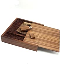 Lonmax Wedding Birthday Gifts Wooden USB Flash Drive 16GB USB 2.0 Flash Disk Pen Drive Walnut Box (17017035mm) (16GB)