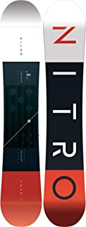 Nitro Snowboards Herren Team Gullwing '20 Vielseitiges All Mountain Freestyle Directional Twin Rocker Camber Wide Board Tabla de Snowboard, Hombre