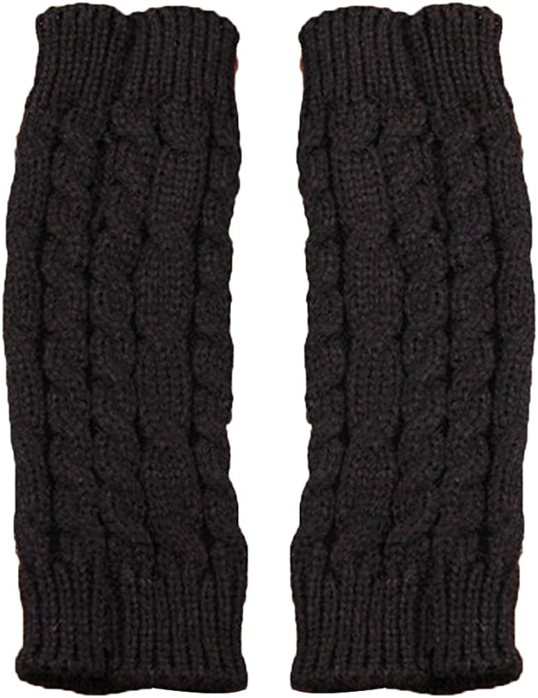 Fashion OULII Winter Knitted Gloves Arm w Sleeve Fingerless Long Warmers Max 69% OFF