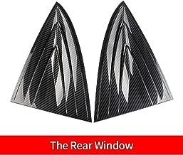 Bomeilai Model 3 Rear Side Quarter Window Louvers Vent Trim Cover Front Side Quarter Window Louvers Vent Trim Cover for Tesla Model 3 (Rear)