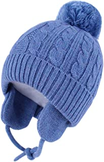 Baby Beanie Earflaps Hat - Infant Toddler Girls Boys Soft...