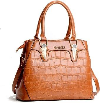 Nevenka PU Leather Womens Tote Bags