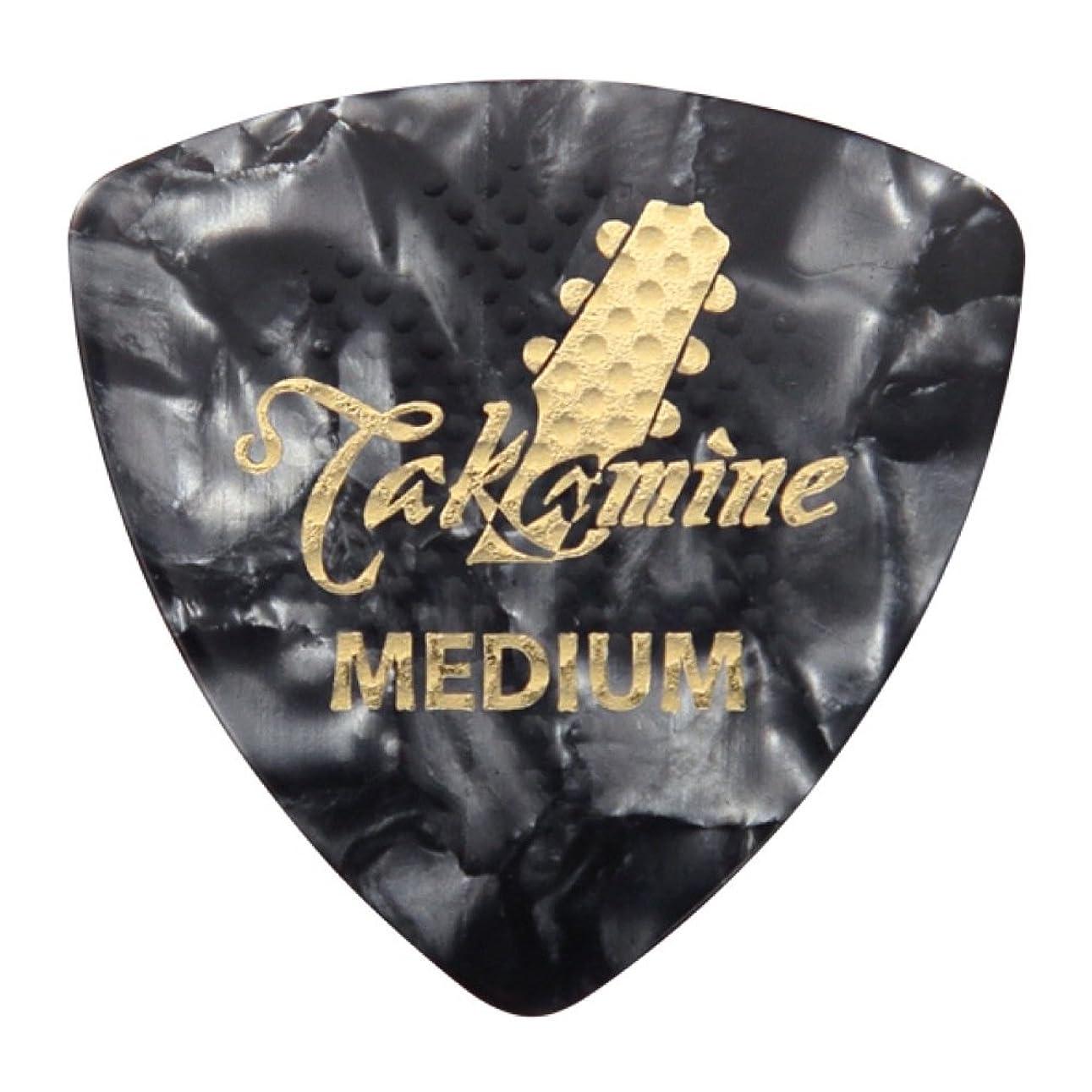 指紋トレッド是正するTAKAMINE P1B MEDIUM 0.75mm セルロイド トライアングルピック×10枚