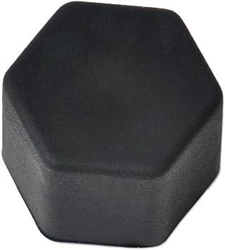 Eastar 20pcs Universal 17mm Silikon Auto Radmuttern Rad Muttern Rad Lug Mutter Schraube Abdeckung Schutz Reifen Ventil Schraube Kappe Antirust Schwarz Auto