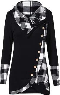 YOcheerful Women Long Sleeve Shirt Blouse Women Long Sleeve Turtleneck Tunic Sweatshirt Pullover Tops Outerwear