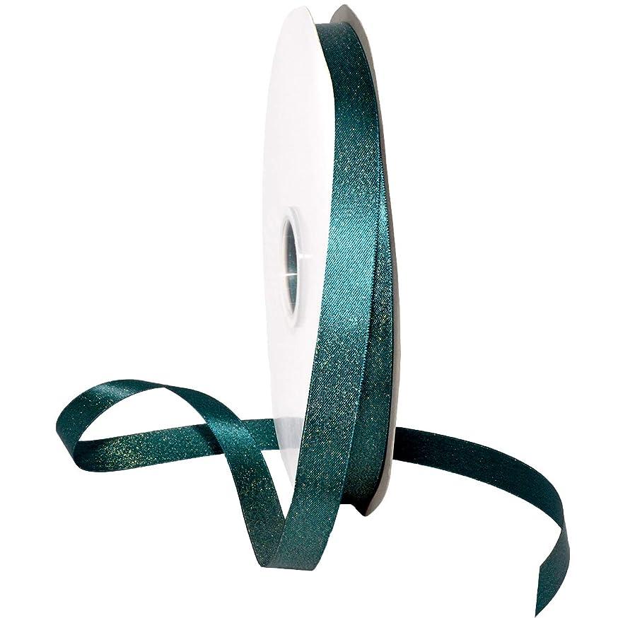 Morex Ribbon 8866 Glitter Pearl Ribbon, Teal