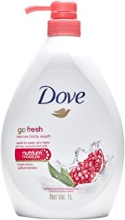 Dove Revive Pomegranate and Lemon Verbena Body Wash, 1L