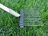 Jibber Gear Made in The USA, Perfect for Grass Lawn Saver Design 48' Solid one Piece Handle Metal Pooper Scooper