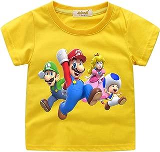 Ragazzi Bambini Super Mario Manica Corta Tee T Shirt Top Età 5-14 anni