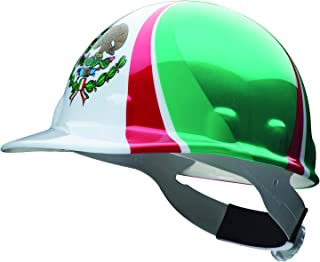 Fibre-Metal by Honeywell SuperEight Thermoplastic Cap-Style Hard Hat with 8-Point Ratchet Suspension, Mexican Flag Full Graphic