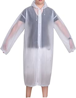 Adult Portable Raincoat Rain Poncho with Hoods and Sleeves