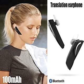 Instant Real Time Portable Bluetooth 28 Languages Translator Earbuds Intelligent Wireless Voice Translation Headset for Business Learning Travel Driving Run Indoor Outdoor