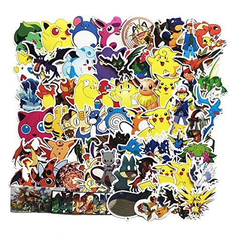 Pokémon Pokémon Pokémon Maleta Dibujos Animados Niños Graffiti Pikachu Pegatina 62PCS