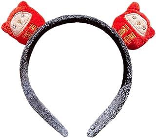 Beautiful crown Funny cartoon mucca bovini peluche fascia del giocattolo, cinese Capodanno Ox Horn Animale Capelli per cap...