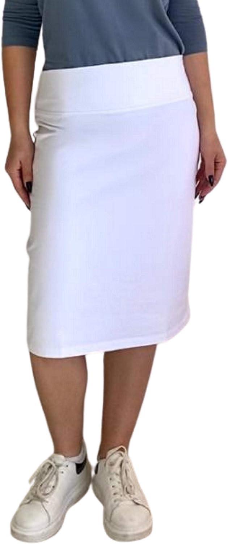 Kosher Casual Nursing Skirt for Women Knee Length Cotton Stretch Knit
