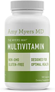 The Myers Way® Multivitamin for Women and Men for Thyroid Support, Stress Relief, Immune Support - Activated B Vitamins, Zinc, Selenium, Iooine - Rich in Nutrients and Minerals, Gluten Free (180 Caps)