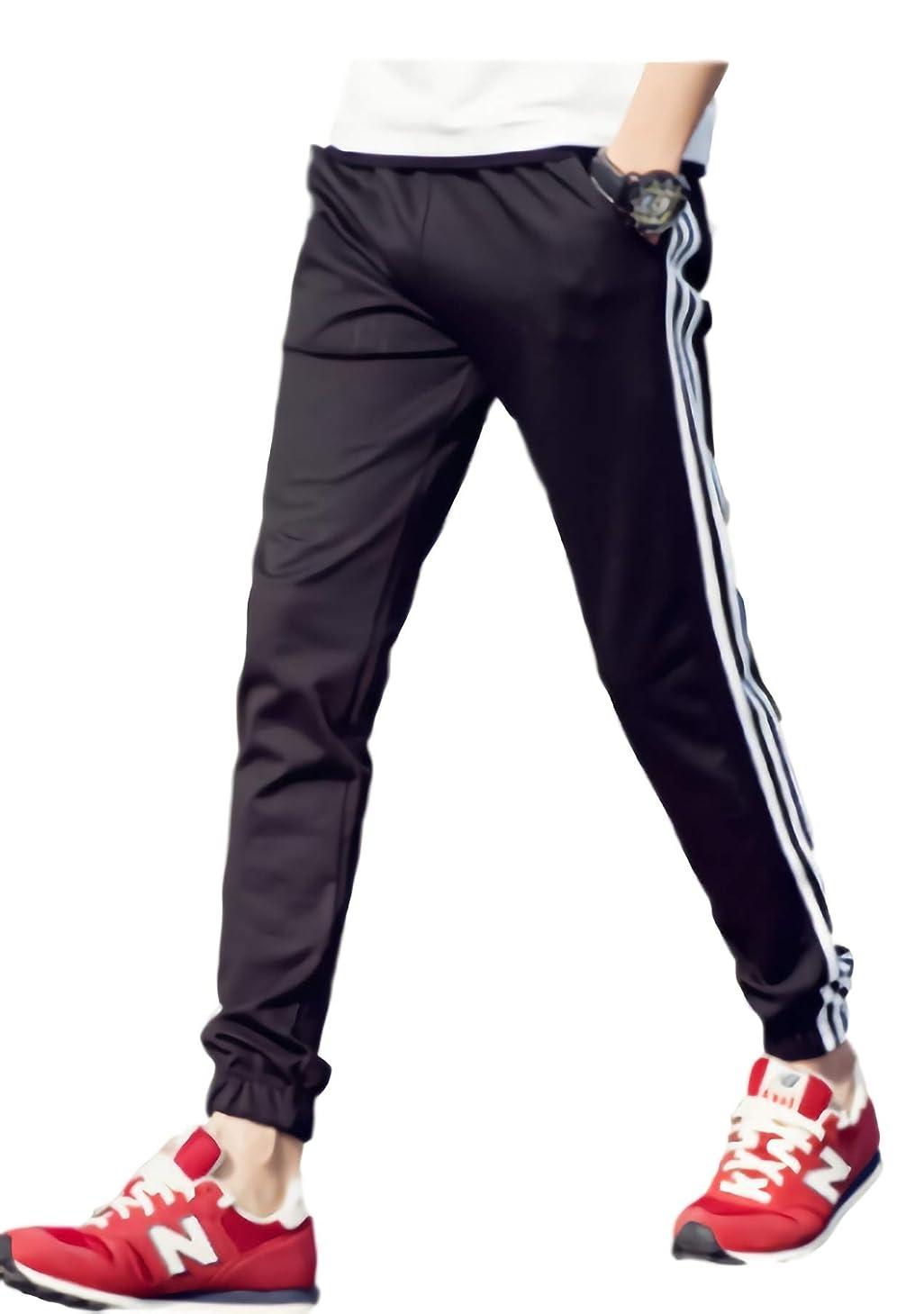 精査する慣らすスキル[パリド] サイド ライン スウェット パンツ ストリート ズボン ジャージ S ~ 6XL メンズ