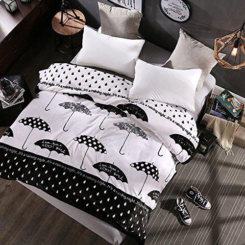 Global- Simple moderne Woolen couverture été Double serviette de flanelle épaisse molleton draps Blanket couvertures climatisation couverture (taille : 200 * 230cm)