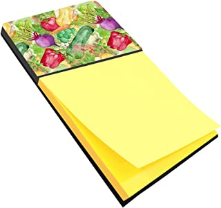Caroline's Treasures BB7572SN Watercolor Vegetables Farm to Table Sticky Note Holder, Large, Multicolor