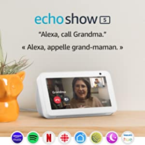 Echo Show 5 – Compact smart display with Alexa – Stay connected with video calling - Sandstone