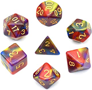 4 Color Blend Dice Sets Polyhedral DND Dice for Dungeons and Dragons Pathfinder RPG MTG Table Gaming Dice