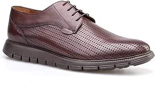 Cabani Lazerli Günlük Erkek Ayakkabı Kahve Sanetta Deri