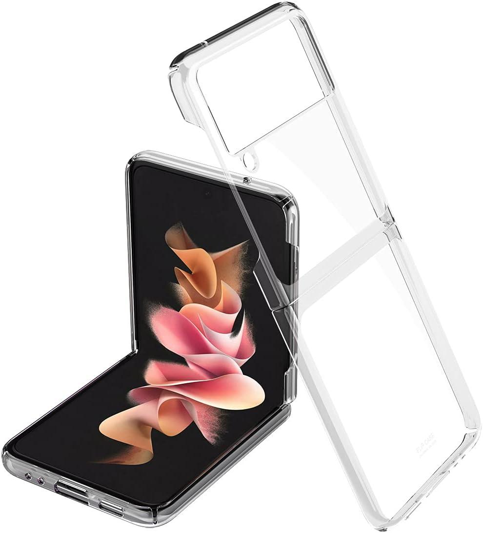 LANHUO668 for Samsung Galaxy Z Flip 3 5G Phone Case Ultra Thin Hard PC Shookproof Folding Designed for Samsung Galaxy Z Flip 3 (Clear)