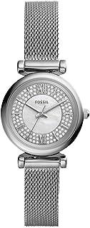 Carlie Mini reloj de cuarzo de malla de acero inoxidable para mujer
